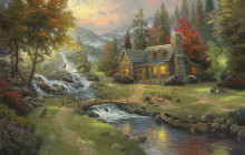 Art By Thomas Kinkade Painter of Light Paintings