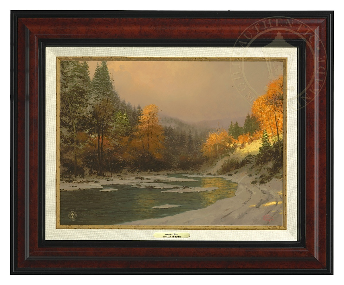 Autumn Snow - Canvas Classic (Burl Frame)