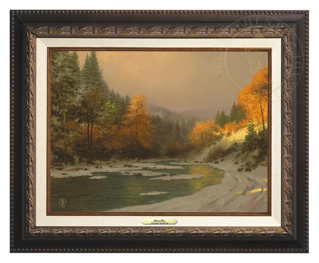 Autumn Snow - Canvas Classic (Aged Bronze Frame)