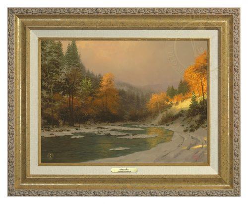 Autumn Snow - Canvas Classic (Gold Frame)
