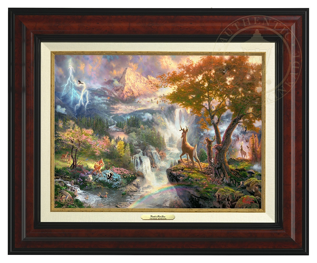 Bambi's First Year - Canvas Classic (Burl Frame)