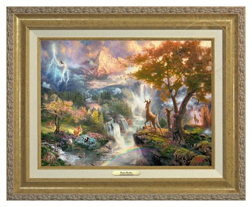 Bambi's First Year - Canvas Classic (Gold Frame)