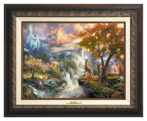 Bambi's First Year - Canvas Classic (Aged Bronze Frame)