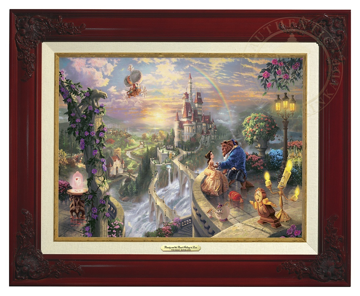 Beauty and the Beast Falling in Love - Canvas Classic (Brandy Frame)