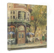 """Bloomsbury Cafe - 14"""" x 14"""" Gallery Wrapped Canvas"""