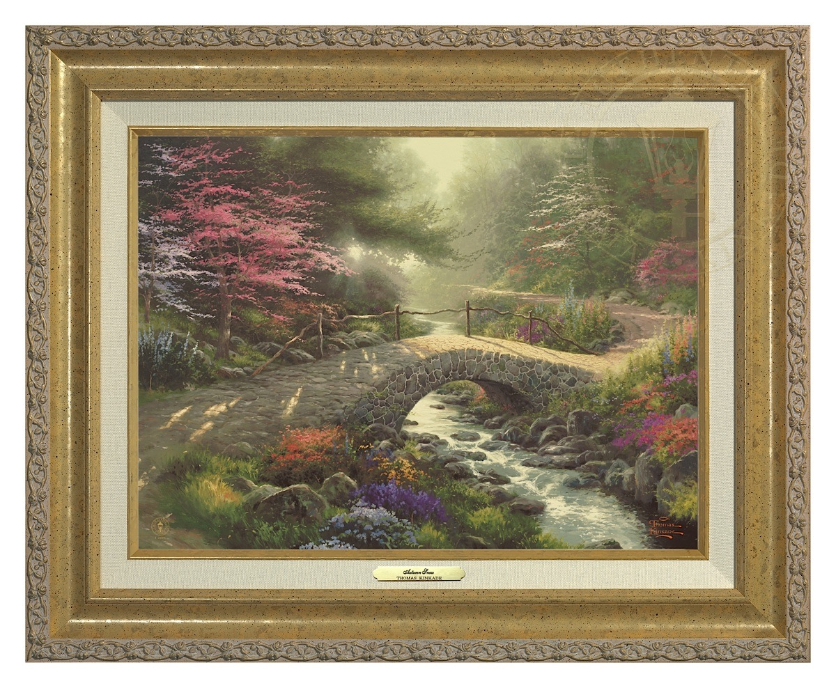 Bridge of Faith - Canvas Classic (Gold Frame)