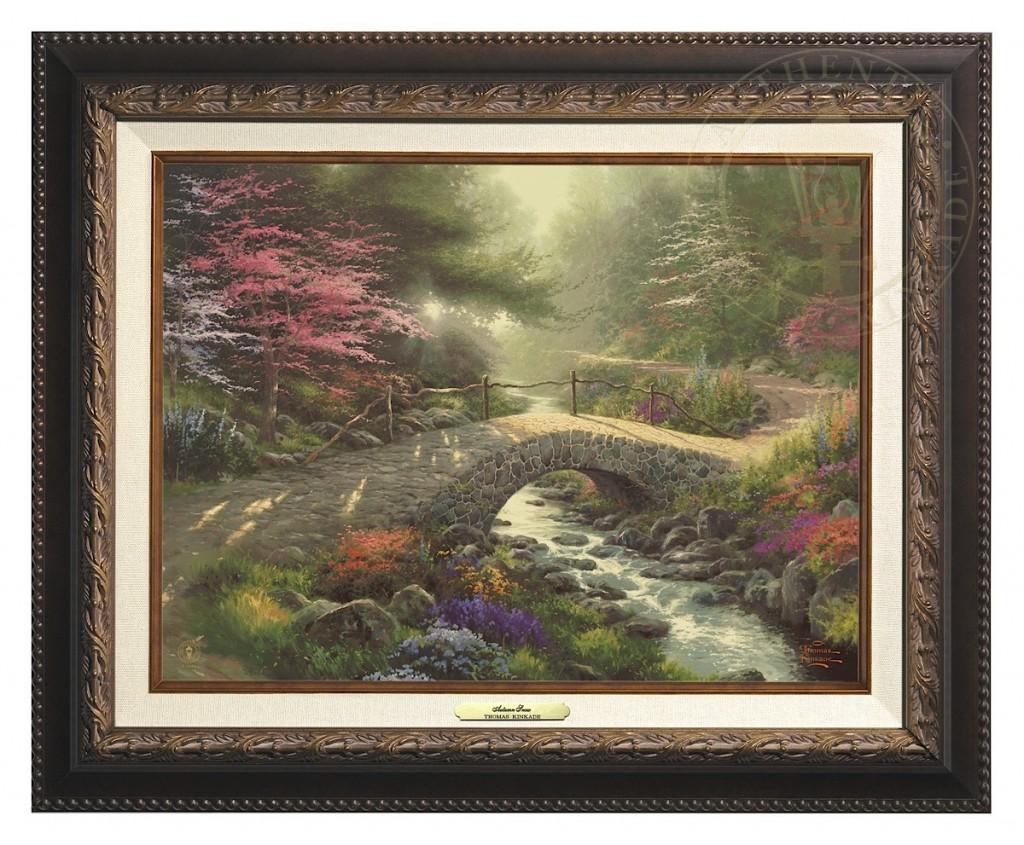 Bridge of Faith - Canvas Classic (Aged Bronze Frame)