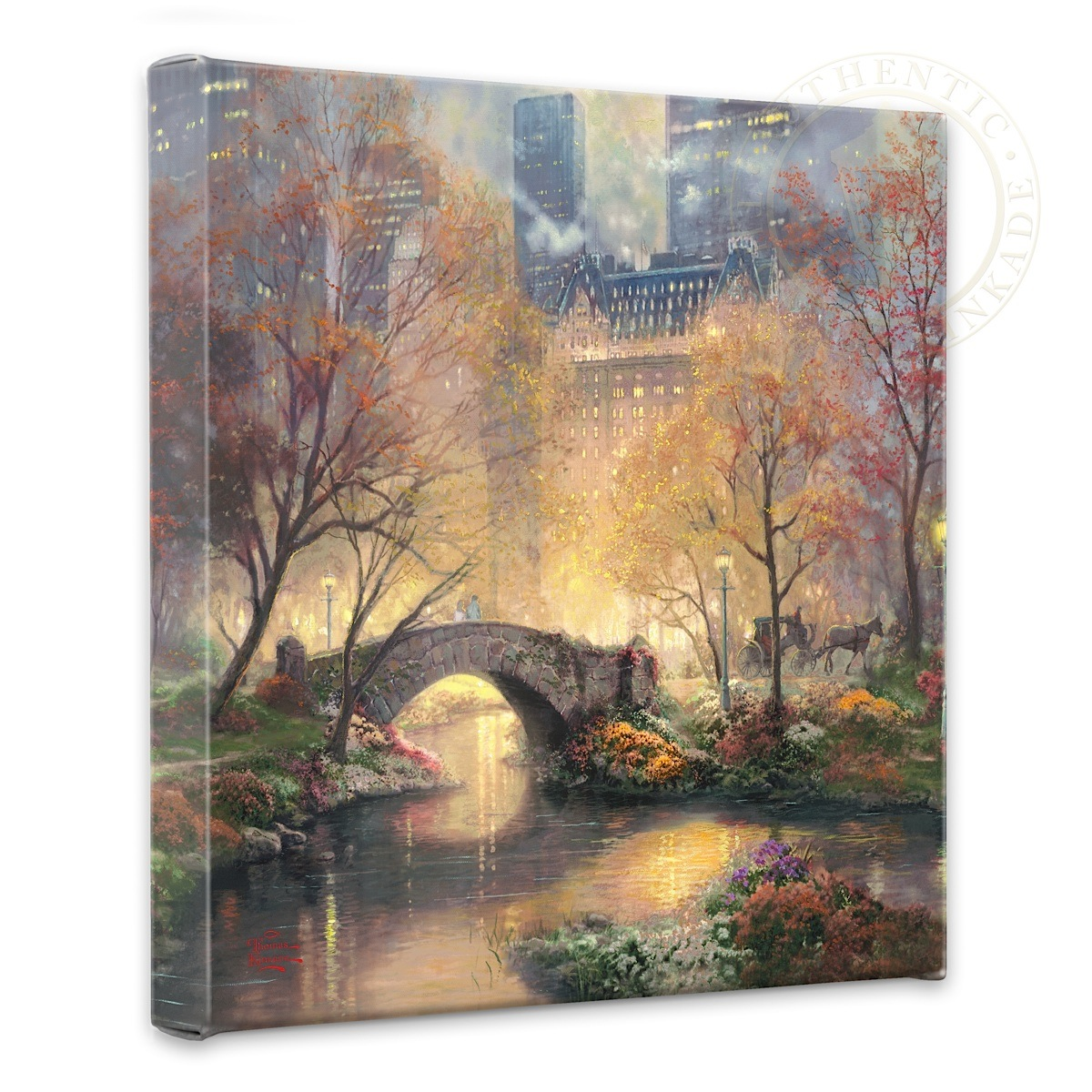 "Central Park in the Fall - 14"" x 14"" Gallery Wrapped Canvas"