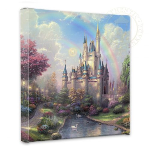 """New Day at the Cinderella Castle, A - 14"""" x 14"""" Gallery Wrapped Canvas"""