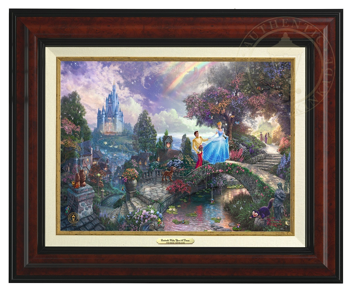 Cinderella Wishes Upon a Dream - Canvas Classic (Burl Frame)