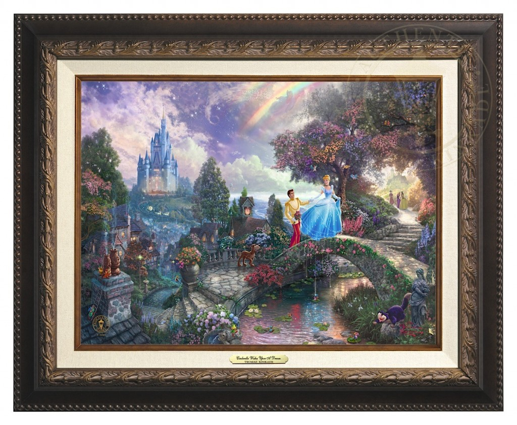 Cinderella Wishes Upon a Dream - Canvas Classic (Aged Bronze Frame)