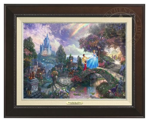 Cinderella Wishes Upon a Dream - Canvas Classic (Espresso Frame)