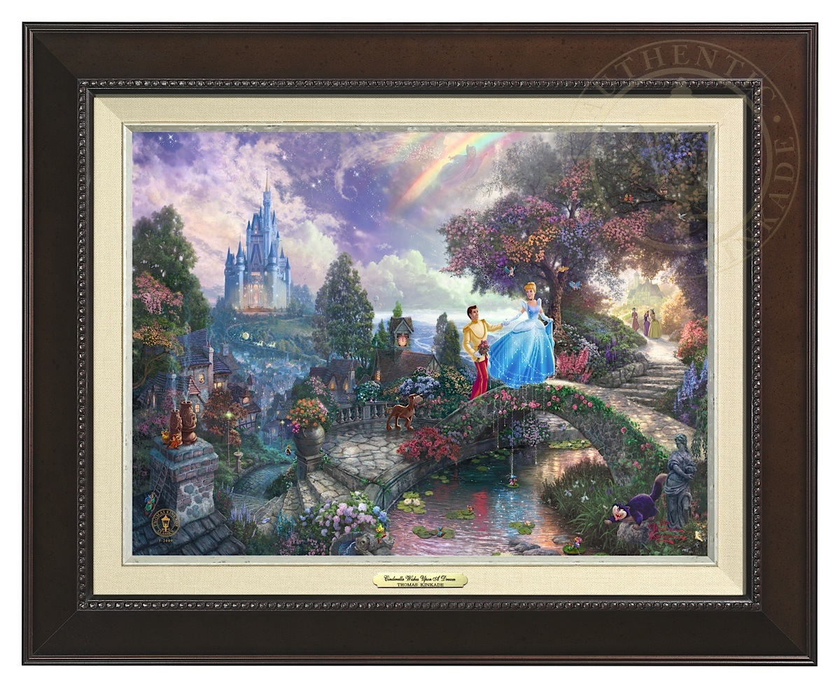 Cinderella Wishes Upon a Dream - Canvas Classic (Espresso Frame)