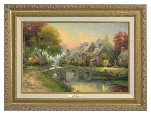 Cobblestone Bridge - Canvas Classic (Gold Frame)