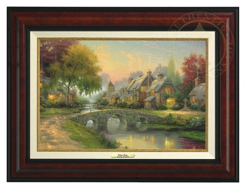 Cobblestone Bridge - Canvas Classic (Burl Frame)