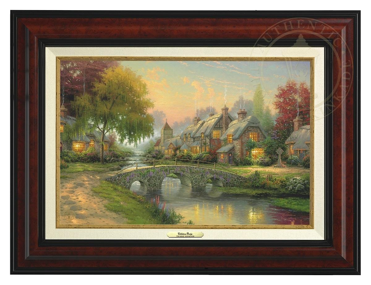 Cobblestone Bridge - Canvas Classic (Burl Frame)