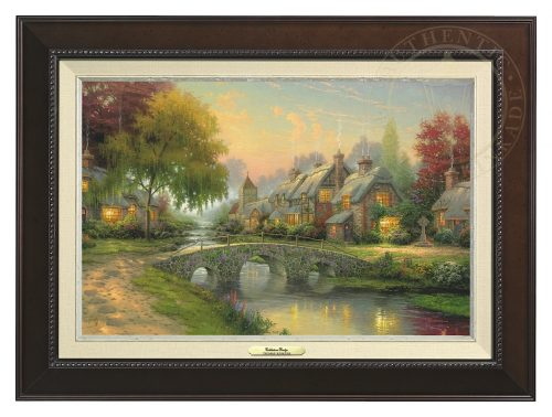Cobblestone Bridge - Canvas Classic (Espresso Frame)