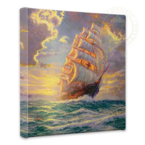 "Courageous Voyage - 14"" x 14"" Gallery Wrapped Canvas"
