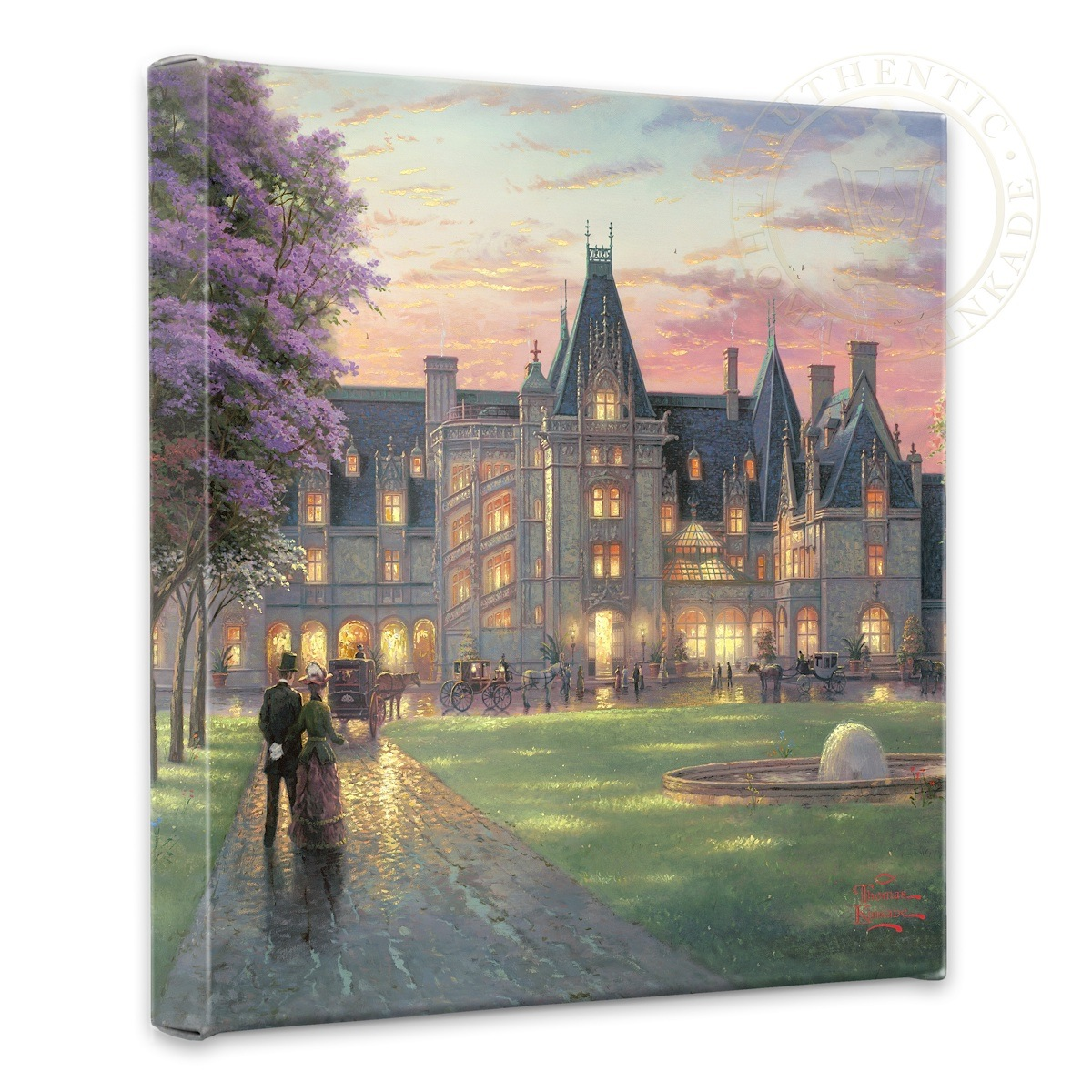 """Elegant Evening at Biltmore - 14"""" x 14"""" Gallery Wrapped Canvas"""