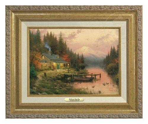 End of a Perfect Day, The - Canvas Classic (Gold Frame)