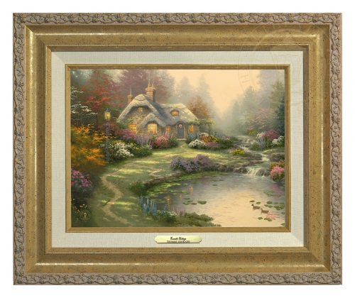 Everett's Cottage - Canvas Classic (Gold Frame)