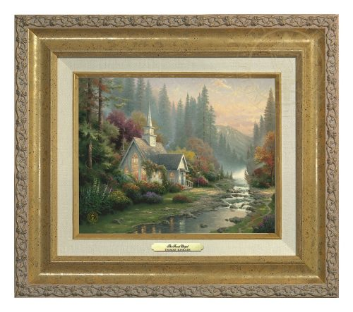 Forest Chapel, The - Canvas Classic (Gold Frame)