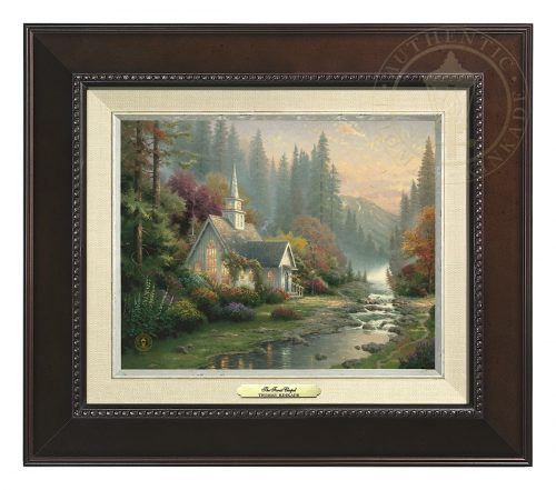 Forest Chapel, The - Canvas Classic (Espresso Frame)