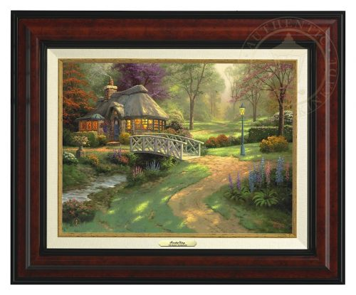 Friendship Cottage - Canvas Classic (Burl Frame)