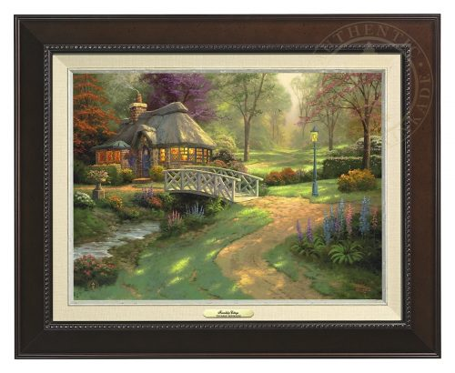 Friendship Cottage - Canvas Classic (Espresso Frame)