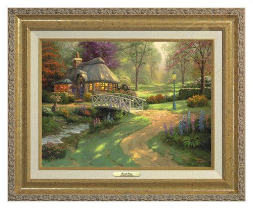 Friendship Cottage - Canvas Classic (Gold Frame)