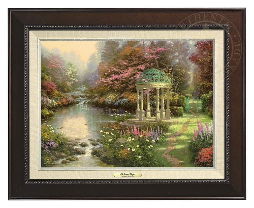 Garden of Prayer, The - Canvas Classic (Espresso Frame)