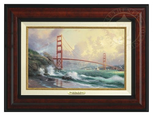 San Francisco, Golden Gate Bridge - Canvas Classic (Burl Frame)