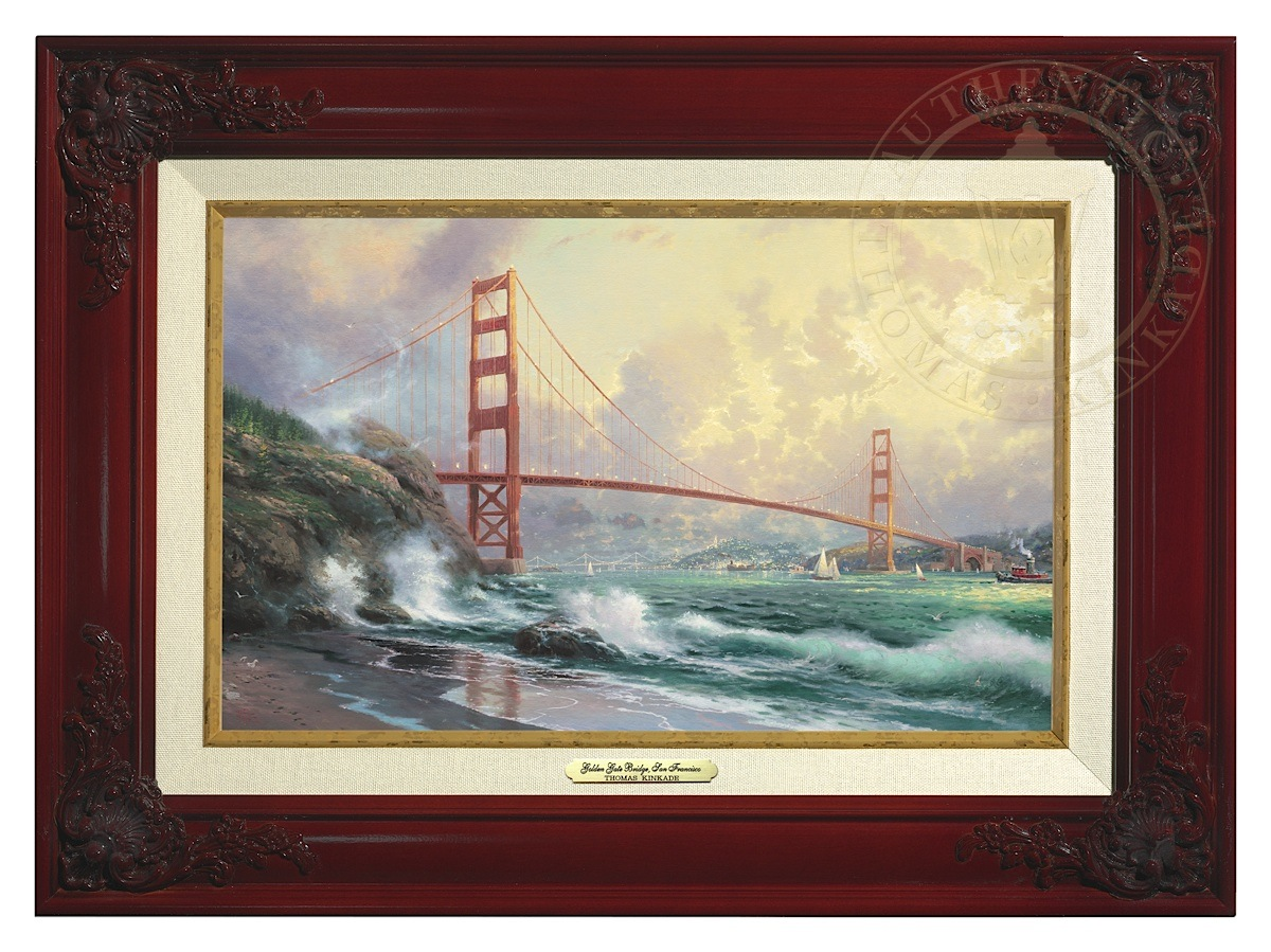 San Francisco, Golden Gate Bridge - Canvas Classic (Brandy Frame)