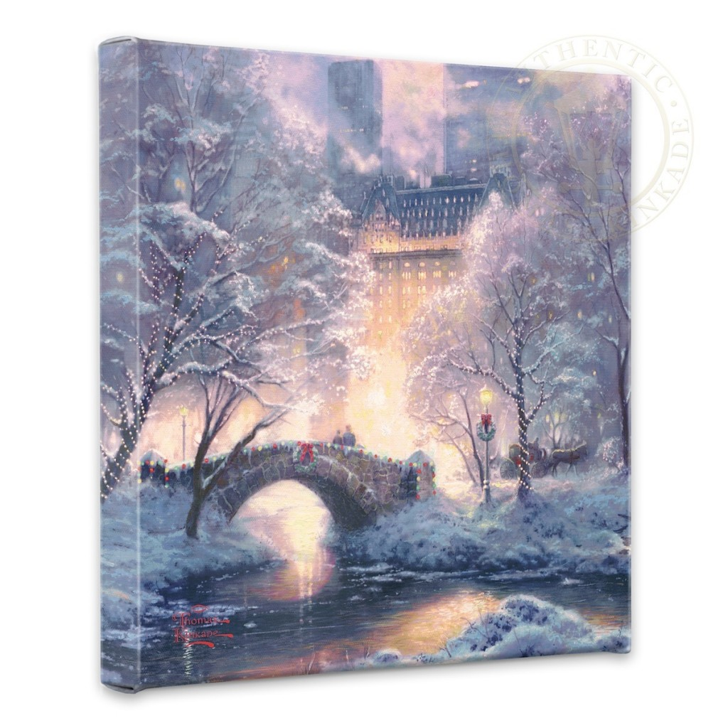 "Holiday at Central Park - 14"" x 14"" Gallery Wrapped Canvas"