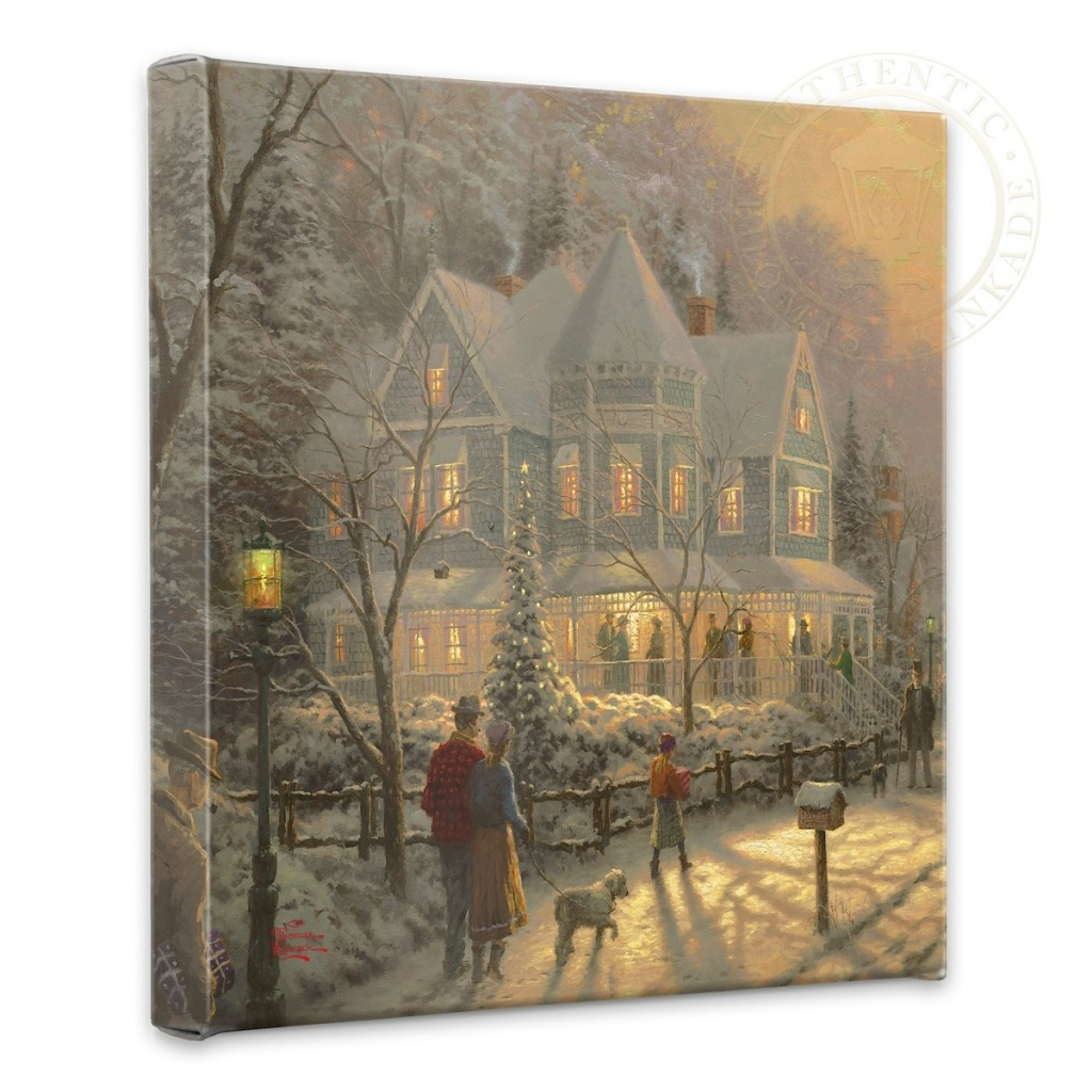 "Holiday Gathering, A - 14"" x 14"" Gallery Wrapped Canvas"