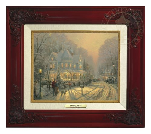 Holiday Gathering, A - Canvas Classic (Brandy Frame)