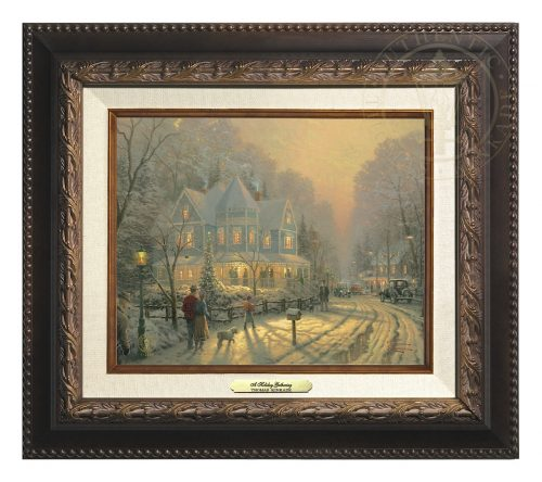 Holiday Gathering, A - Canvas Classic (Aged Bronze Frame)