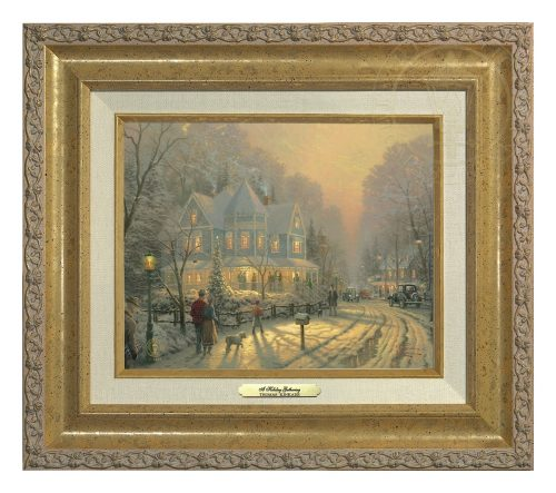 Holiday Gathering, A - Canvas Classic (Gold Frame)