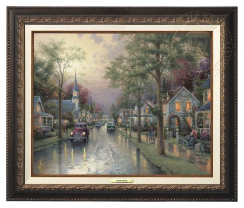 Hometown Morning - Canvas Classic (Aged Bronze Frame)