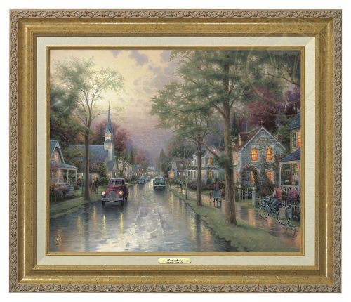 Hometown Morning - Canvas Classic (Gold Frame)