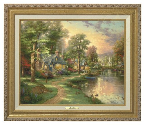 Hometown Lake - Canvas Classic (Gold Frame)