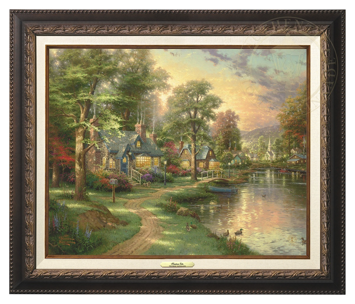 Hometown Lake - Canvas Classic (Aged Bronze Frame)