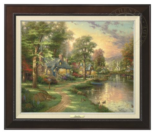 Hometown Lake - Canvas Classic (Espresso Frame)