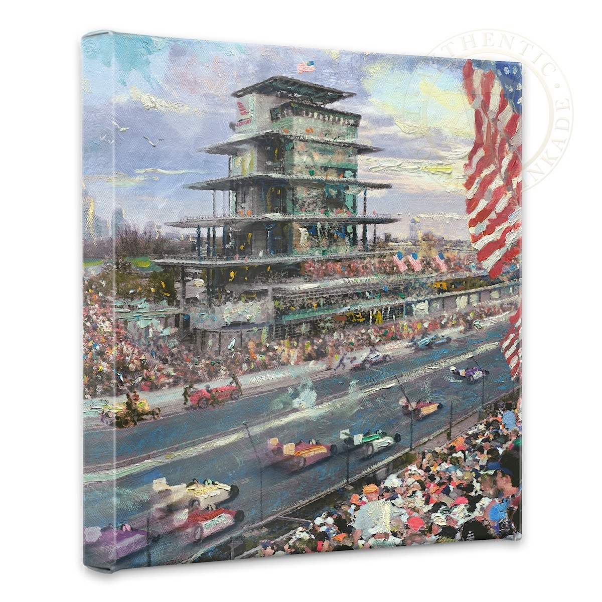"Indianapolis Motor Speedway, 100th Anniversary Study - 14"" x 14"" Gallery Wrapped Canvas"