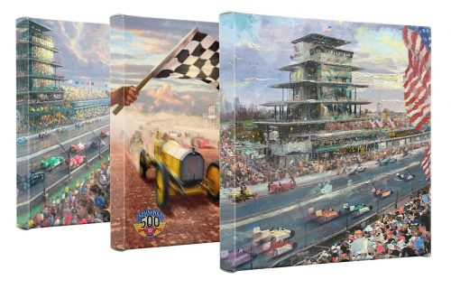 Indy 500 (Set of 3) - 14 x 14 Gallery Wrapped Canvas - Gallery Wrapped Canvas