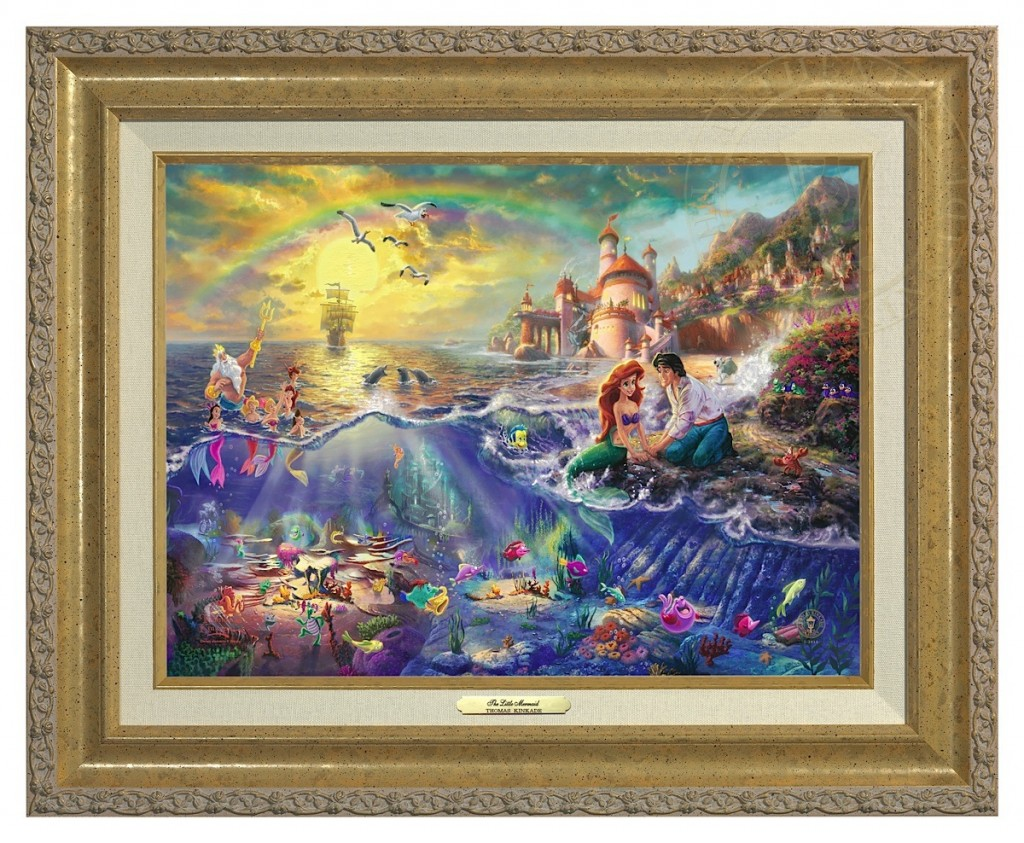 Little Mermaid, The - Canvas Classic (Gold Frame)