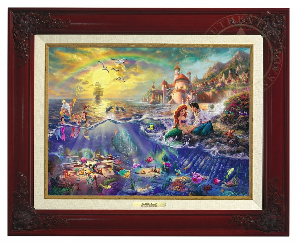 Little Mermaid, The - Canvas Classic (Brandy Frame)