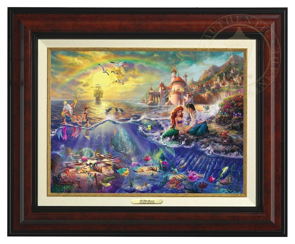 Little Mermaid, The - Canvas Classic (Burl Frame)