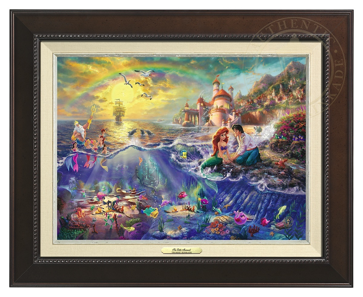 Little Mermaid, The - Canvas Classic (Espresso Frame)