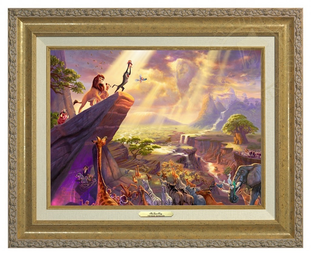 Lion King, The - Canvas Classic (Gold Frame)